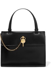 J.W.Anderson Jw Anderson Frame Keyts Glossed Leather Tote Black