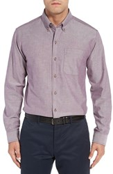 Cutter And Buck Men's Big Tall Classic Fit Oxford Sport Shirt Italian Plum