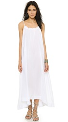 Skin Drape Back Beach Maxi Dress White