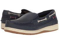 Sebago Maleah Slip On Navy Leather Women's Shoes Blue