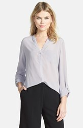 Trouve Women's Trouve Silk Blouse Grey Dapple