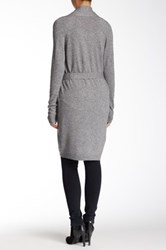 Acrobat Belted Open Front Cardigan Gray
