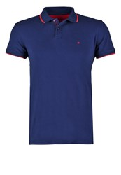 Wrangler Regular Fit Polo Shirt Medieval Blue Dark Blue
