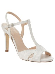 Phase Eight Ally Leather T Bar Sandals Off White