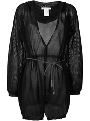 Fabiana Filippi Belted Hooded Cardigan Black