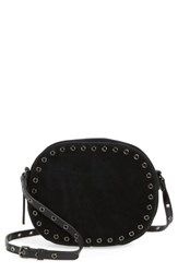 Vince Camuto Areli Suede And Leather Crossbody Bag Black Noir