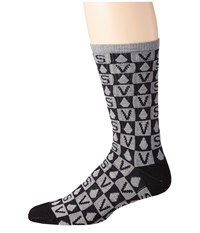 Volcom Token Cool Grey Men's Crew Cut Socks Shoes Gray