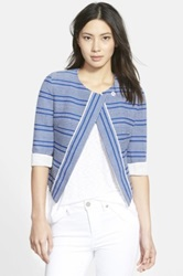Piece And Co. And Rebecca Minkoff 'Ella' Collarless Tweed Blazer Blue