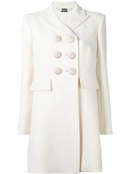 Alexander Mcqueen Double Breasted Peacoat White