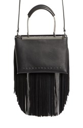 Alexander Wang Dime Small Fringe Satchel Black