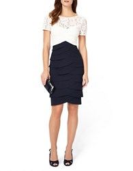 Phase Eight Evie Lace Dress Navy Ivory