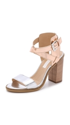 Modern Vintage Piper Sandals Silver Rose Gold
