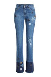 Red Valentino R.E.D. Flared Jeans With Star Patches