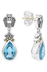 Women's Lagos 'Caviar Color' Semiprecious Stone Teardrop Earrings Blue Topaz