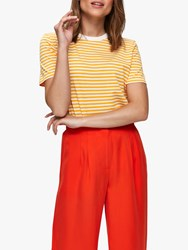 Selected Femme My Perfect Stripe T Shirt Radiant Yellow