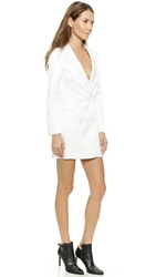 Line And Dot Angelina Tuxedo Dress White