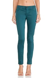 Hudson Jeans Nico Midrise Super Skinny Graphite Teal