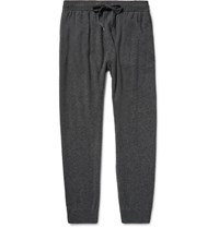 Derek Rose Finley Knitted Cashmere Sweatpants Charcoal