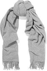 Acne Studios Canada Fringed Wool Scarf Gray
