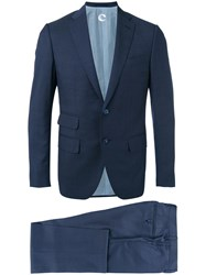 Caruso Two Piece Formal Suit Men Cupro Viscose Wool 48 Blue