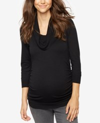 A Pea In The Pod Maternity Ruched Cowl Neck Sweater Black