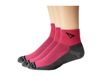 Drymax Sport Lite Trail Running 1 4 Crew Turn Down 3 Pair Pack Oct Pink Gray Crew Cut Socks Shoes