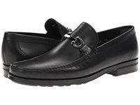 Salvatore Ferragamo Tris Horsebit Loafer Nero Men's Slip On Dress Shoes Black