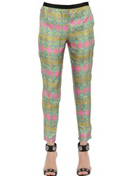 Monocrom Printed Viscose Cady Pants