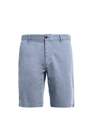 Faherty Slim Fit Cotton Blend Chino Shorts Navy
