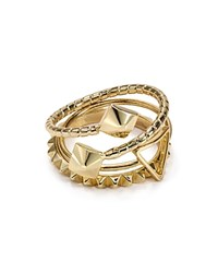 Abs By Allen Schwartz Pyramid Rings Set Of 3 Gold