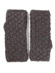 Dolce And Gabbana Fingerless Mitten Gloves Grey
