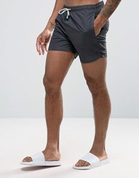Oiler And Boiler Tuckernuck Mid Length Swim Shorts In Black Black