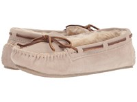 Minnetonka Cally Slipper Stone Suede Moccasin Shoes Gray