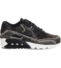 Nike Air Max 90 Leopard Print Faux Pony Hair Leather Trainers Sting Ray Black Sail