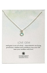 Women's Dogeared 'Love Gem' Semiprecious Stone Pendant Necklace