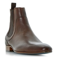 Bertie Maple Leather Chelsea Boots Brown