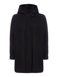 Sessun Wool Batwing Coat With Hood Blue