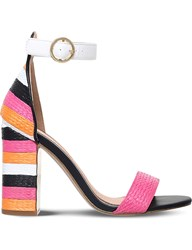 Miss Kg Ebony Colour Block Woven Heeled Sandals Mult Other