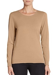 Lafayette 148 New York Fitted Wool Turtleneck Camel