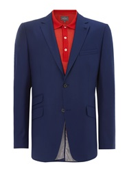 Peter Werth Two Button Notch Lapel Suit Jacket Navy