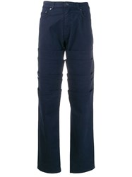Y Project Layered Straight Trousers Blue