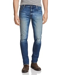Belstaff Westering Slim Fit Jeans In Faded Blue Stone Wash Indigo