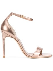 Saint Laurent Amber Ankle Strap 105 Sandals Pink And Purple