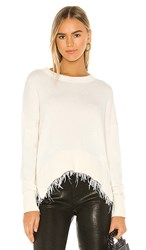 Central Park West Firenze Sweater In Cream. Ivory