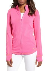 Tommy Bahama Jen And Terry Full Zip Top Bright Blush Bright Apricot