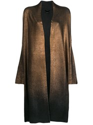 Avant Toi Long Metallic Coat