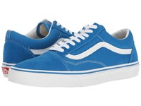 Vans Old Skool Suede Canvas Imperial Blue True White Skate Shoes