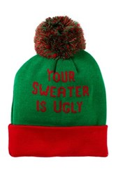 Bioworld Ugly Sweater Cuffed Beanie Green