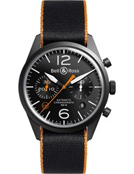 Bell And Ross Brv126oca Automatic Stainless Steel Canvas Strap Watch
