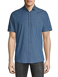 Saks Fifth Avenue Med Chambray Button Down Shirt Denim